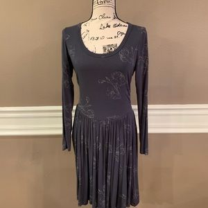 Old Navy Side Shirred Dress, Size Medium, Gray